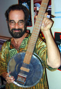 Mr Bob Brozman with the first prototype
